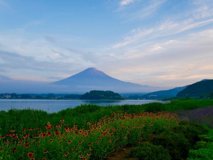 View of Mt. Fuji and Lake Kawaguchi
